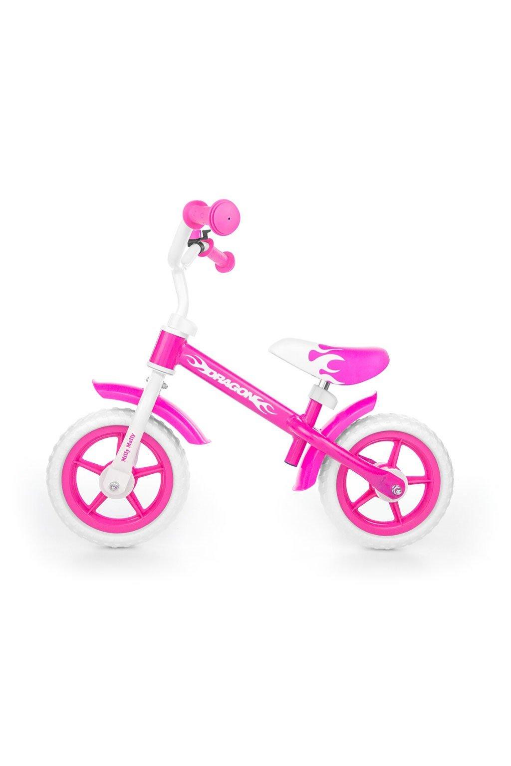 Detské odrážadlo kolo Milly Mally Dragon pink