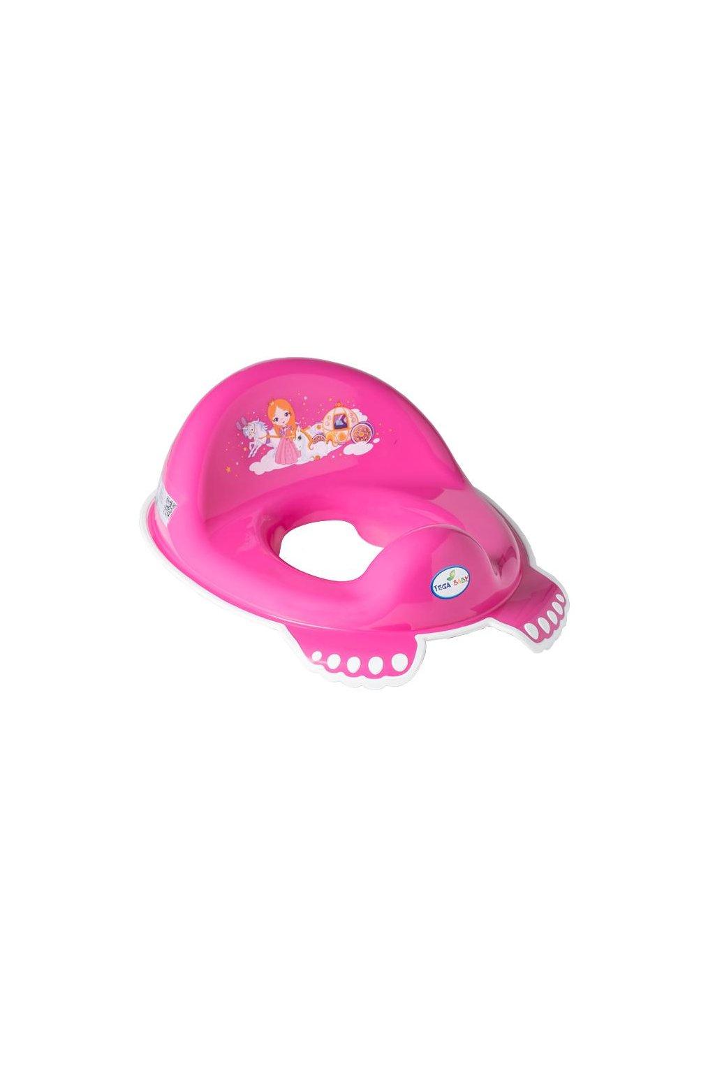 Detské protišmykové sedátko na WC Malá Princezná ružové