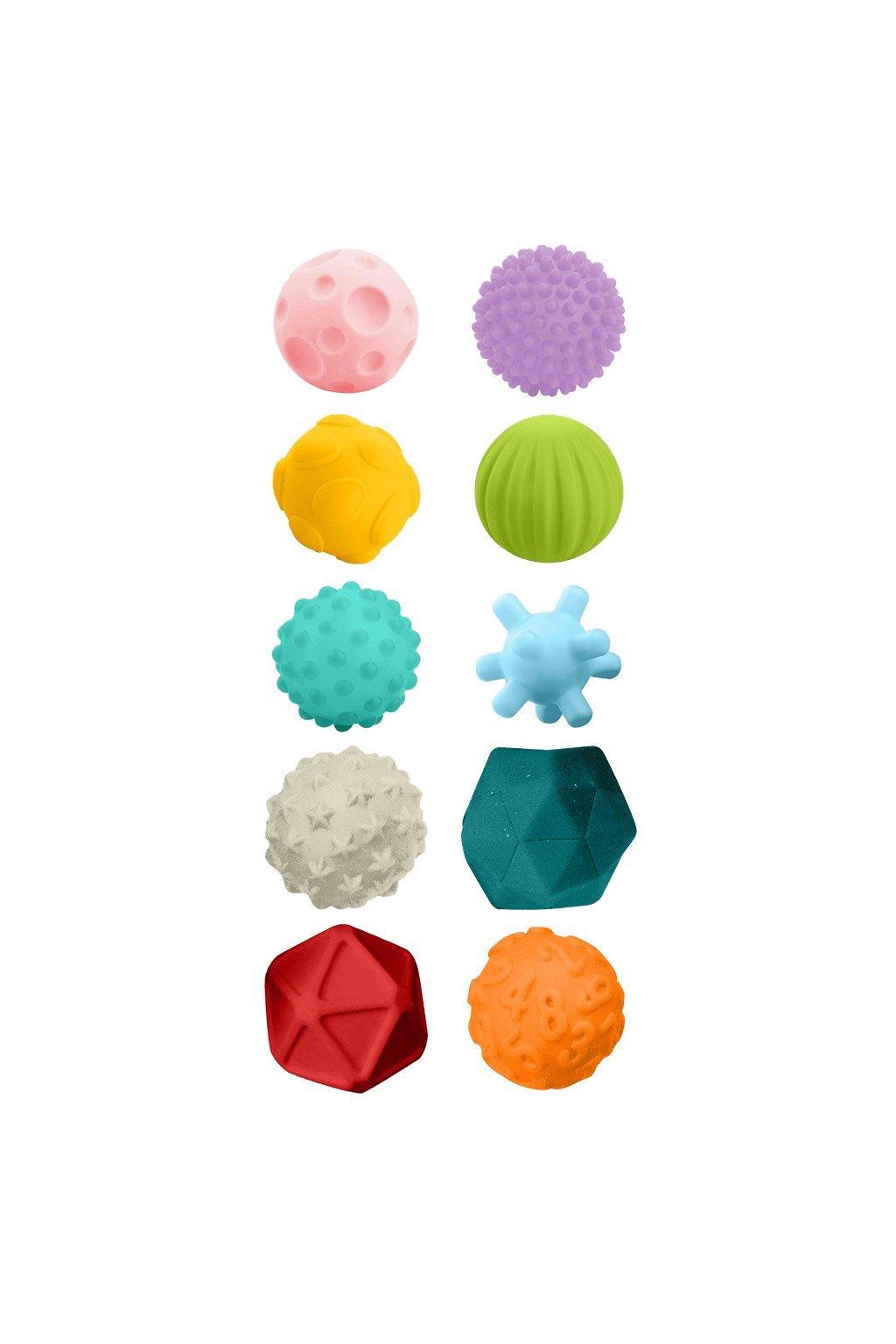 Sada senzorických hračiek 10ks Bayo