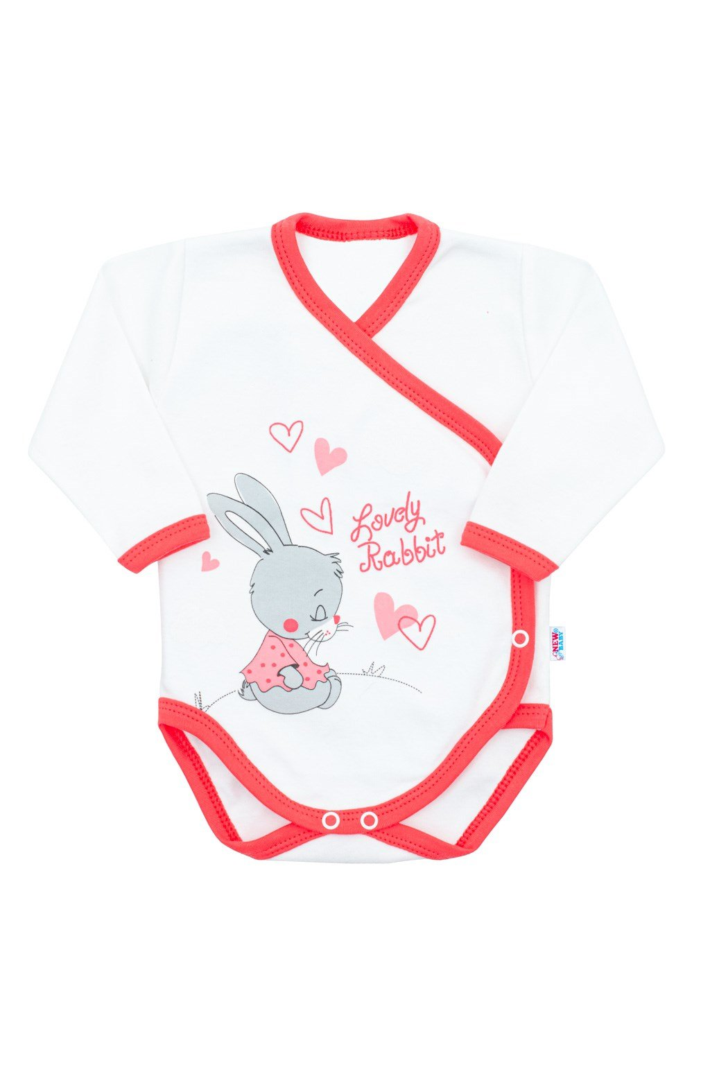 Detské body s bočným zapínaním New Baby Lovely Rabbit ružové