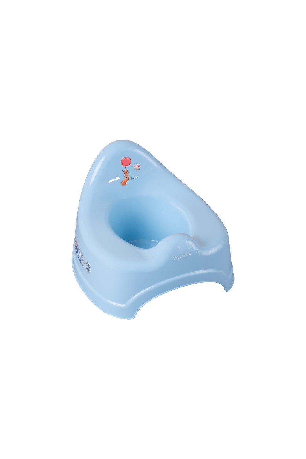 Hrajúci detský nočník veverička modrý