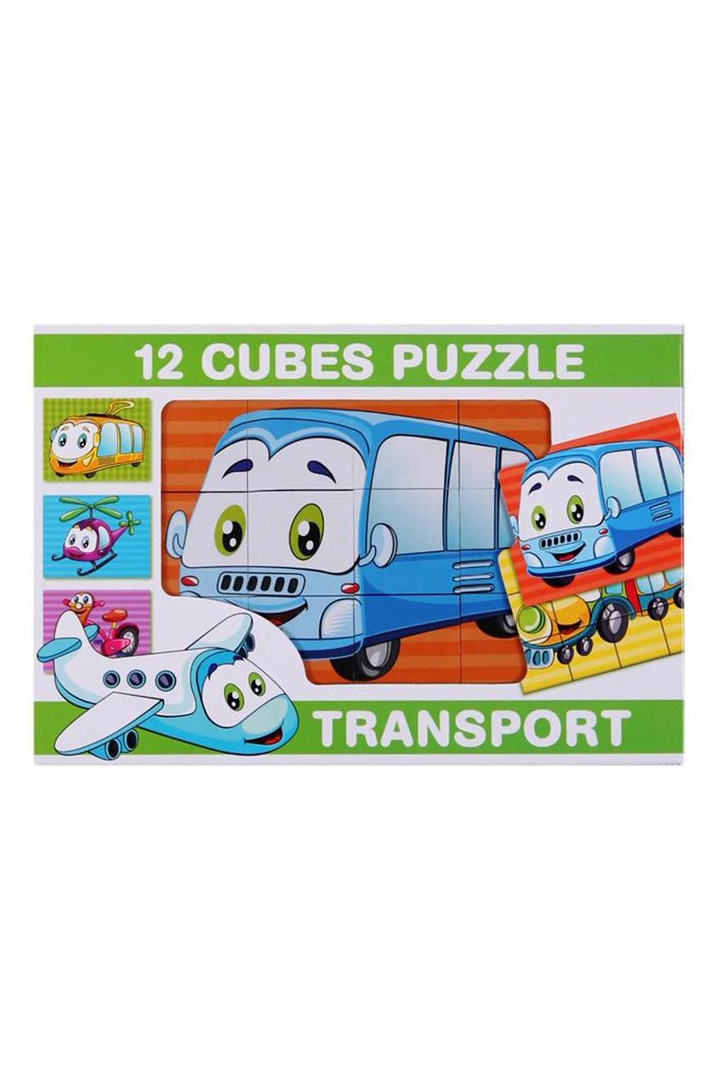 Skladacie obrázkové kocky 12 ks transport