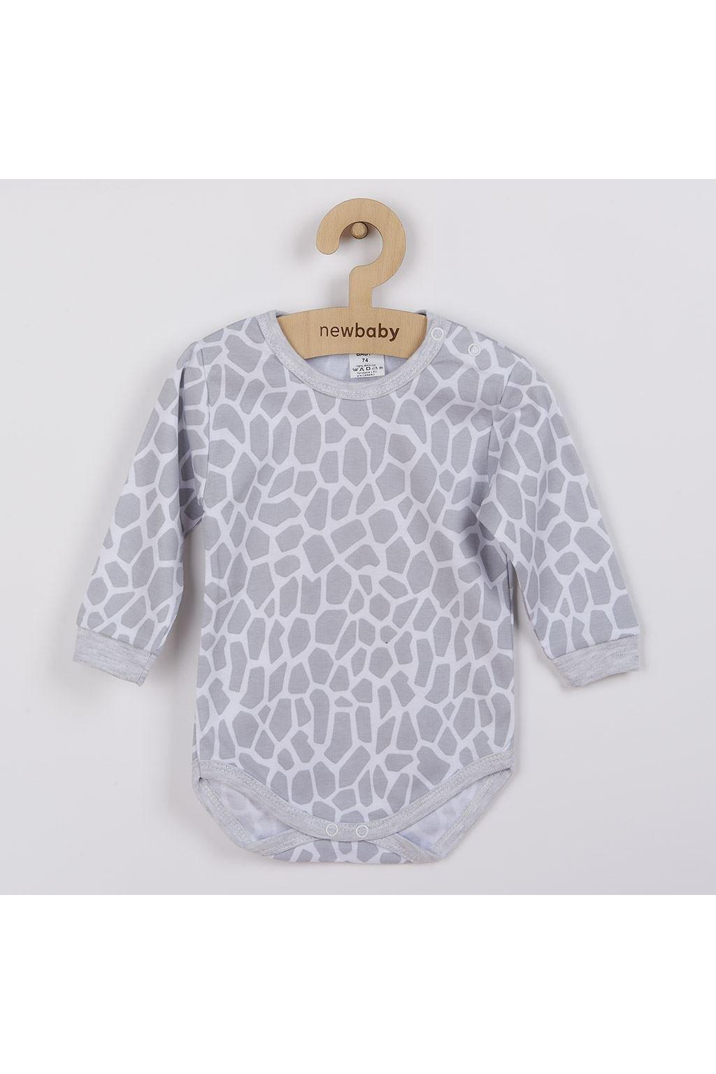 Dojčenské body s dlhým rukávom New Baby Žirafa