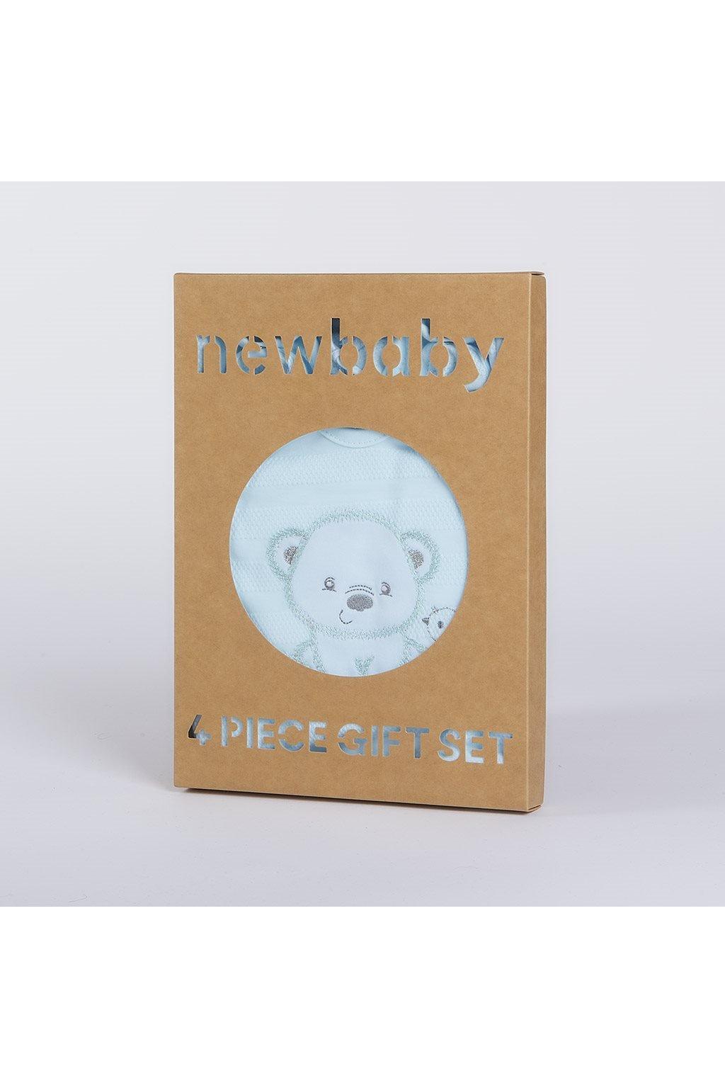 Dojčenská súprava do pôrodnice New Baby Sweet Bear modrá