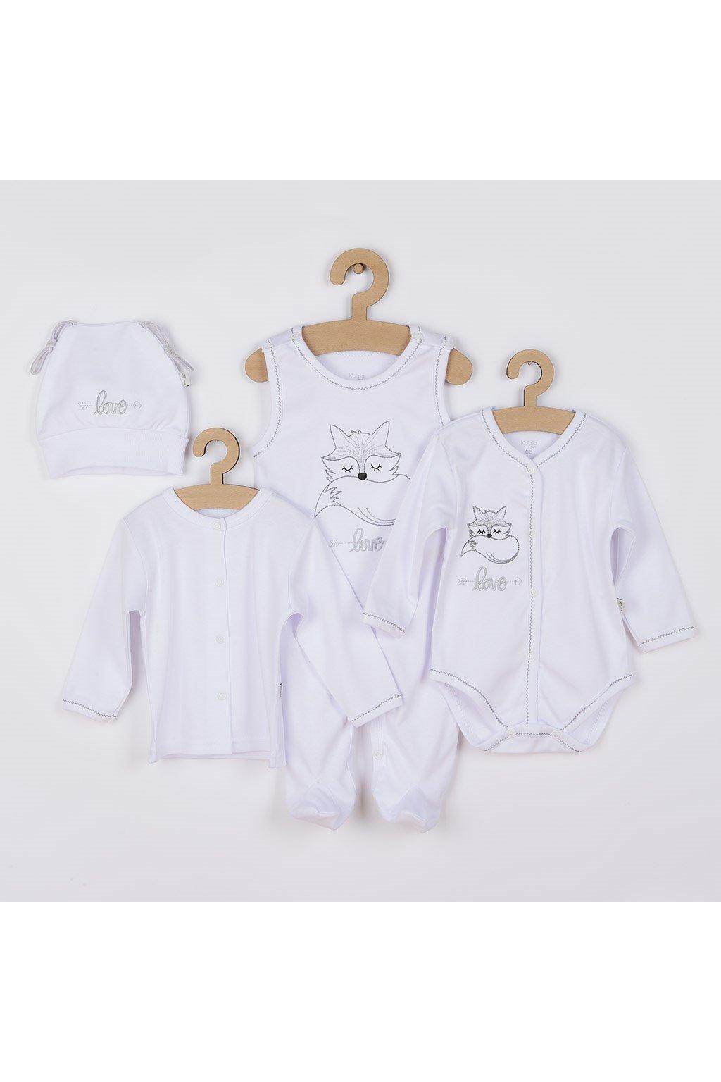 4-dielna dojčenská súprava Koala Fox Love biela