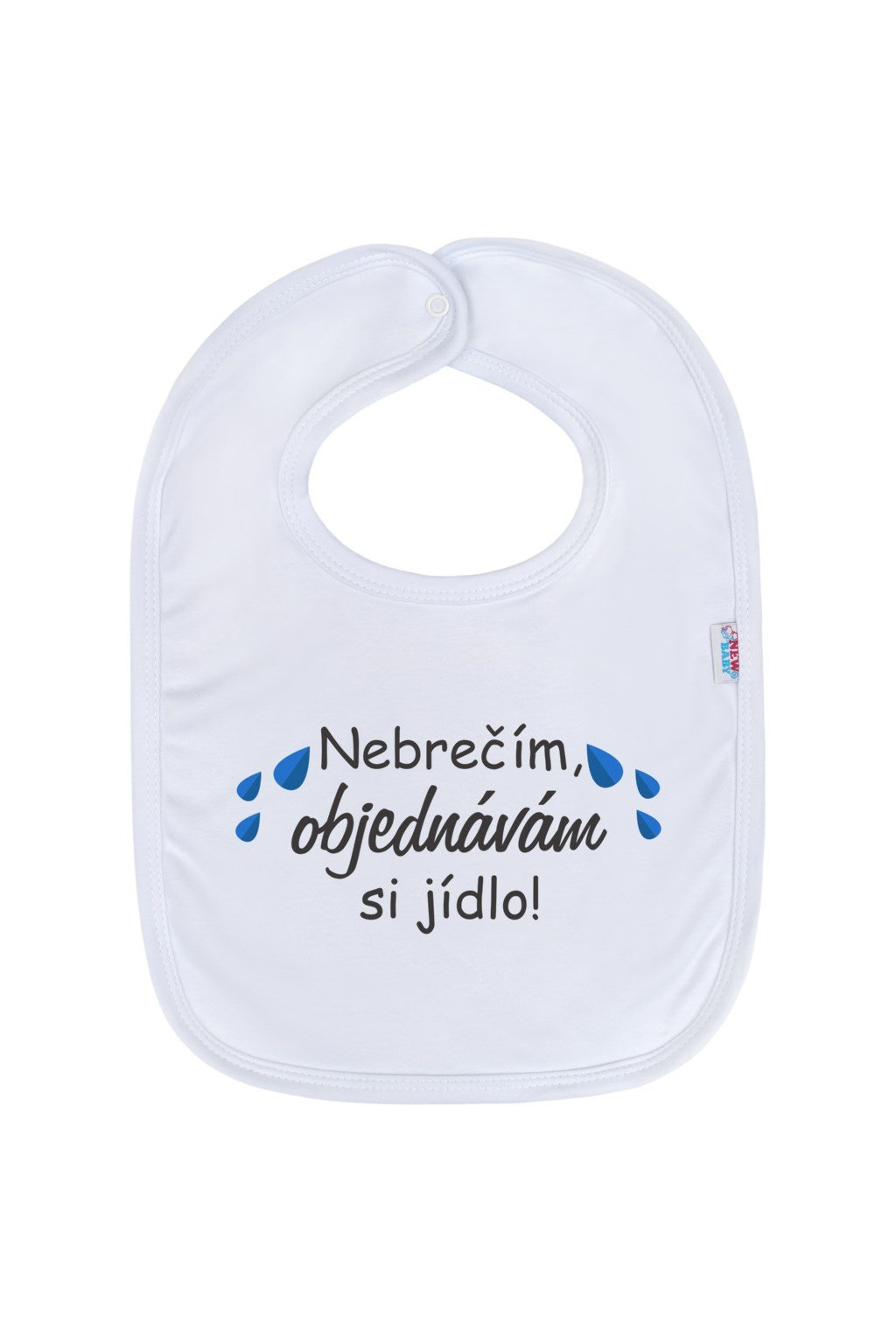Detský podbradník New Baby Nebrečím objednávám si jídlo!