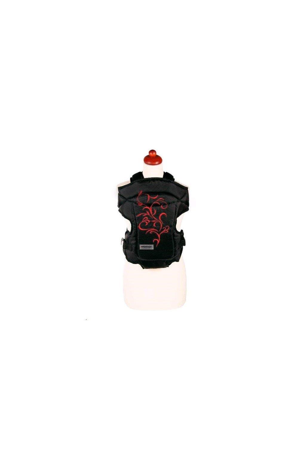 Nosítko Womar Zaffiro Butterfly čierne s červenou výšivkou