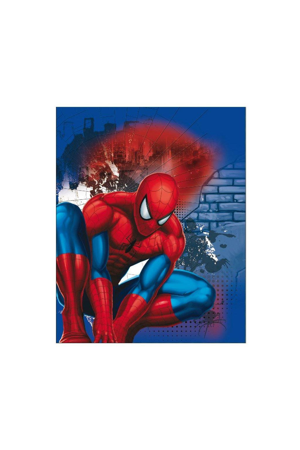 Detská obojstranná auto deka Spiderman 120x150 cm