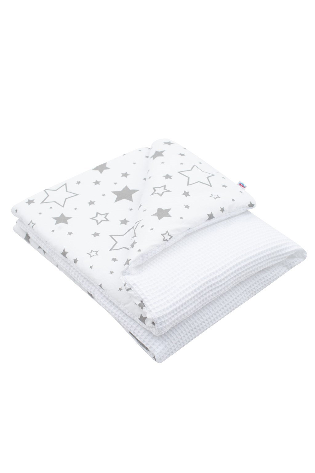 Detská deka s výplňou New Baby Vafle biela hviezdičky 80x102 cm