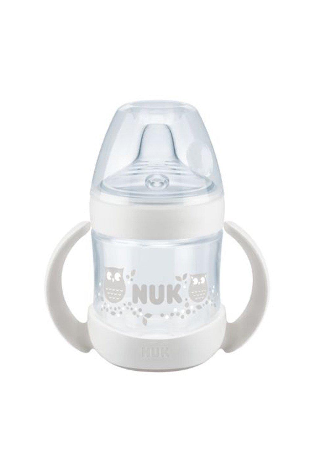 Dojčenská fľaša na učenie NUK Nature Sense 150 ml biela