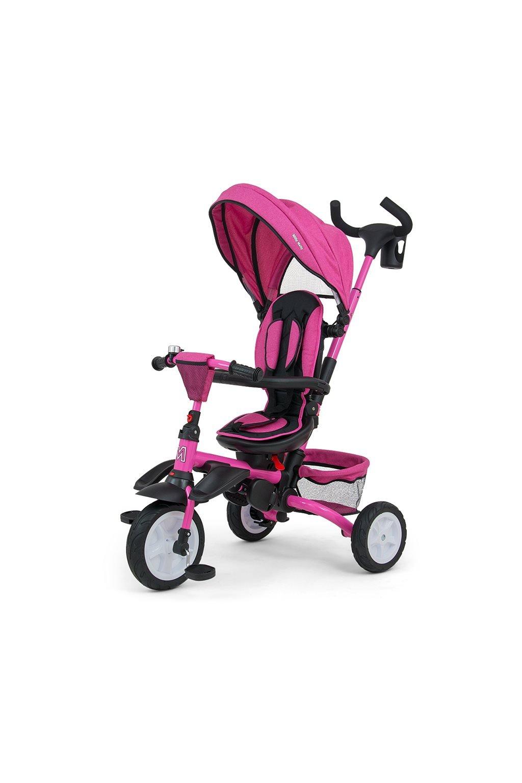 Detská trojkolka 6v1 Milly Mally Stanley pink