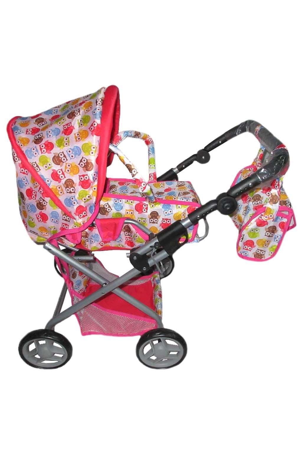 Detský kočík pre bábiky 2v1 Baby Mix so sovičkami