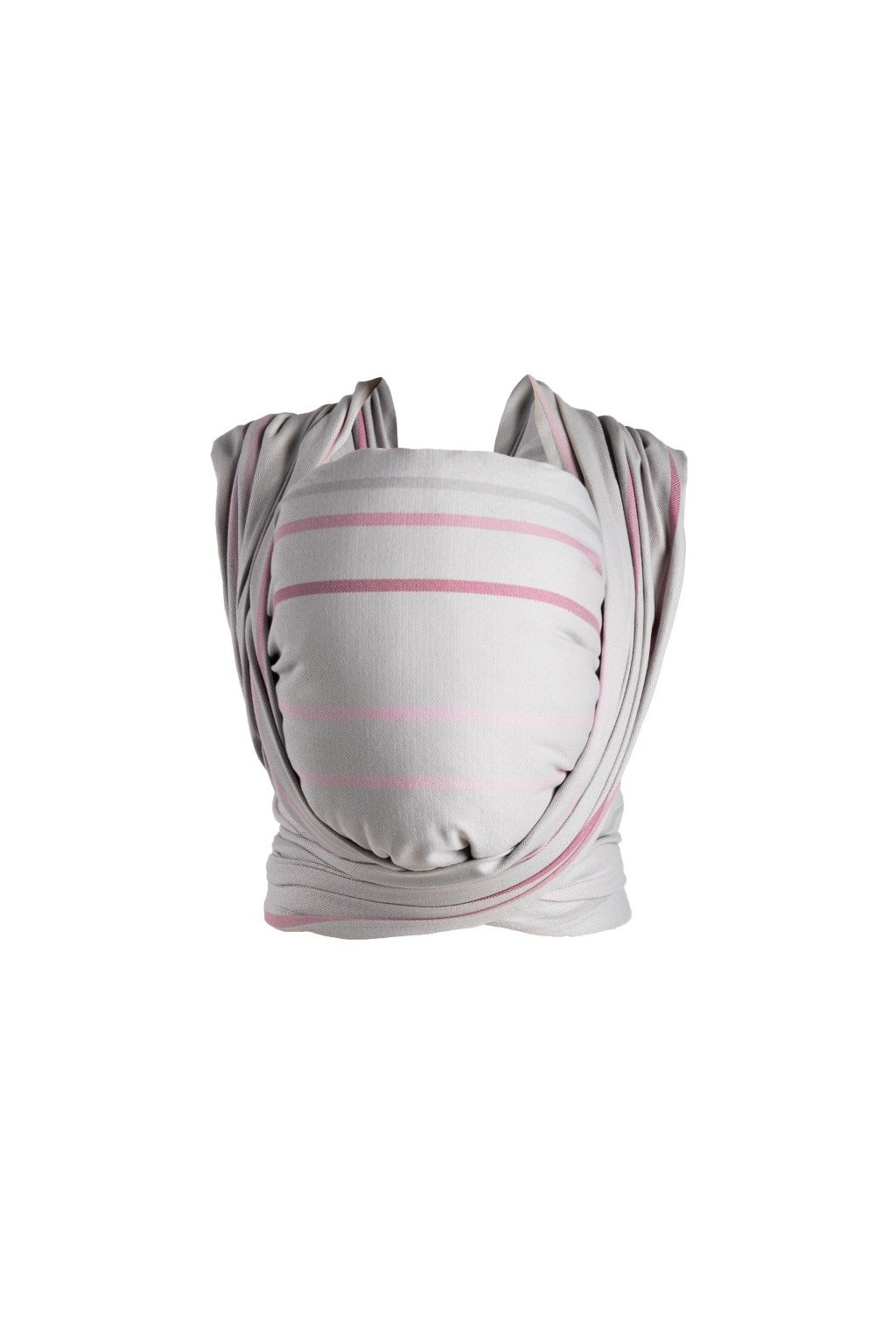 Šatka Womar na nosení detí Be Close ružovo-sivá
