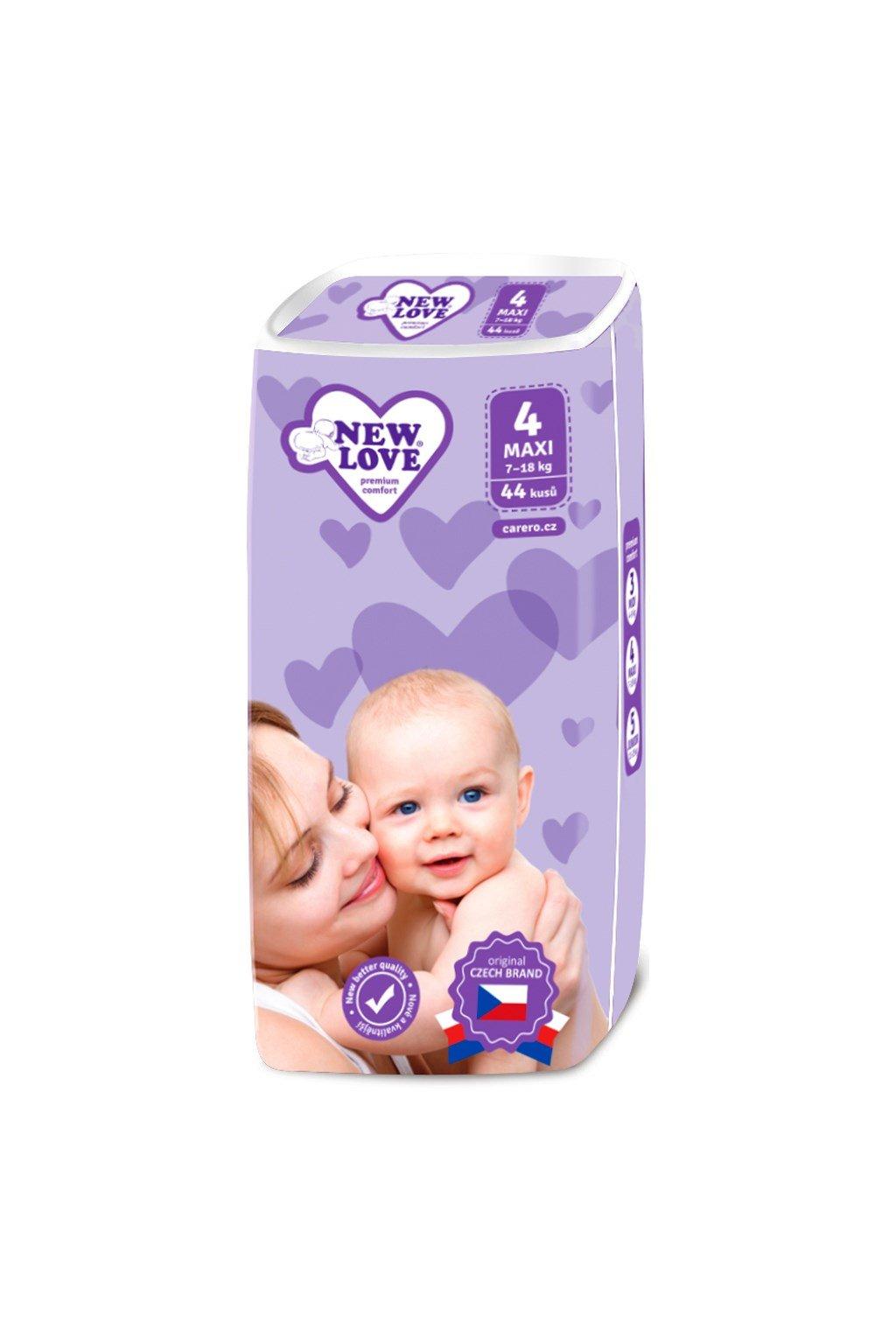 Detské jednorázové plienky New Love Premium comfort 4 MAXI 7-18 kg 44 ks