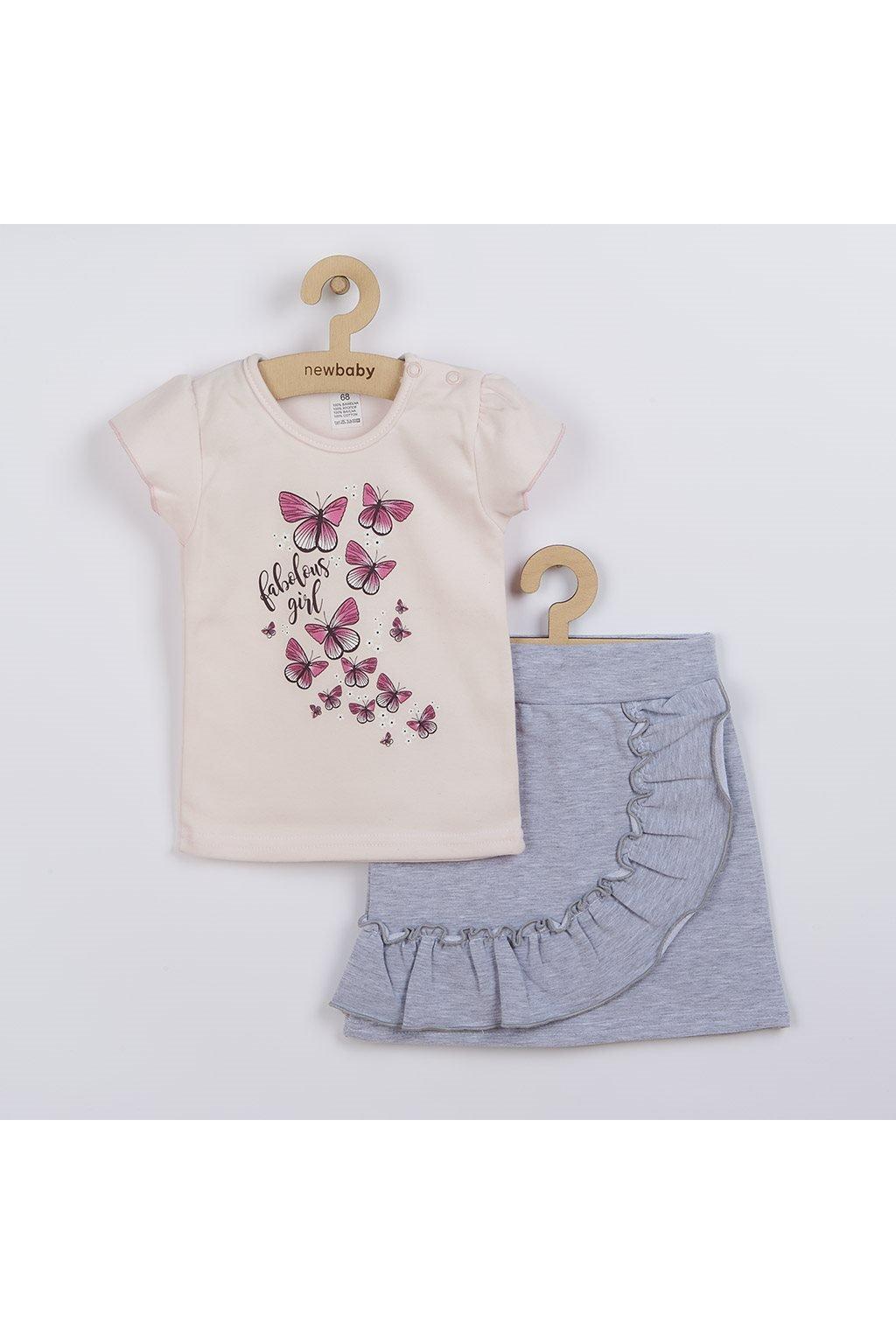 Dojčenské tričko so sukienkou New Baby Butterflies