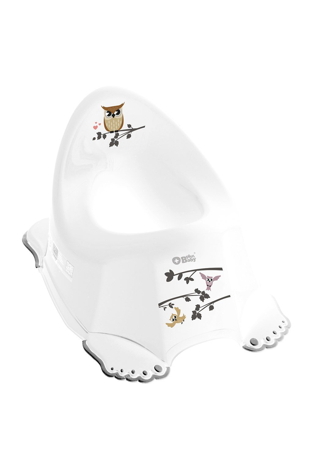 Detský nočník protišmykový Múdra Sova biely