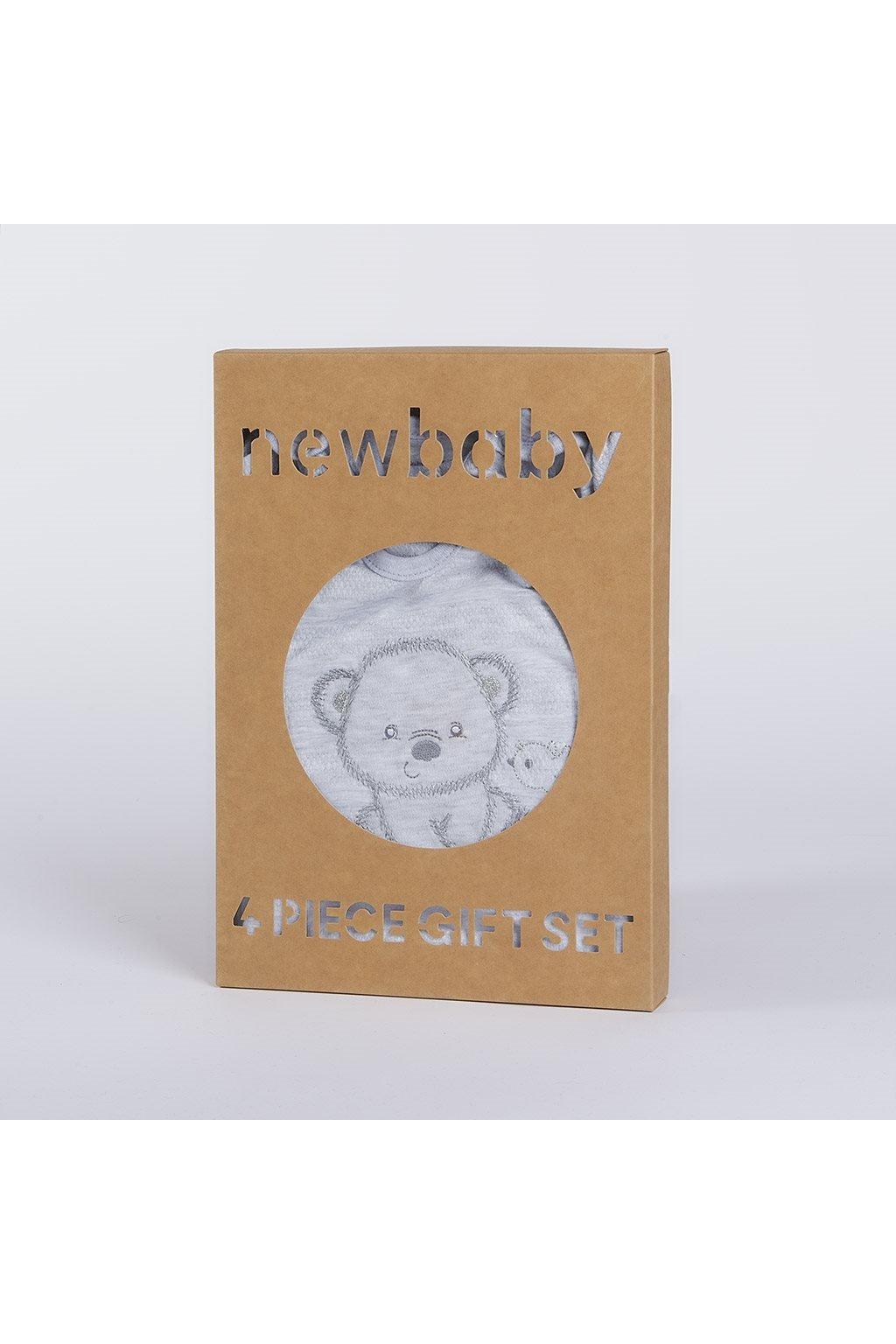 Dojčenská súprava do pôrodnice New Baby Sweet Bear sivá