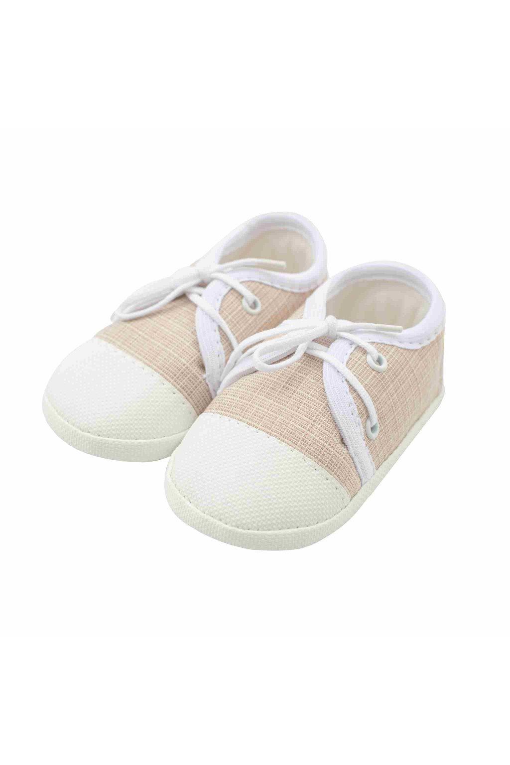 Dojčenské capačky tenisky New Baby jeans béžové 3-6 m