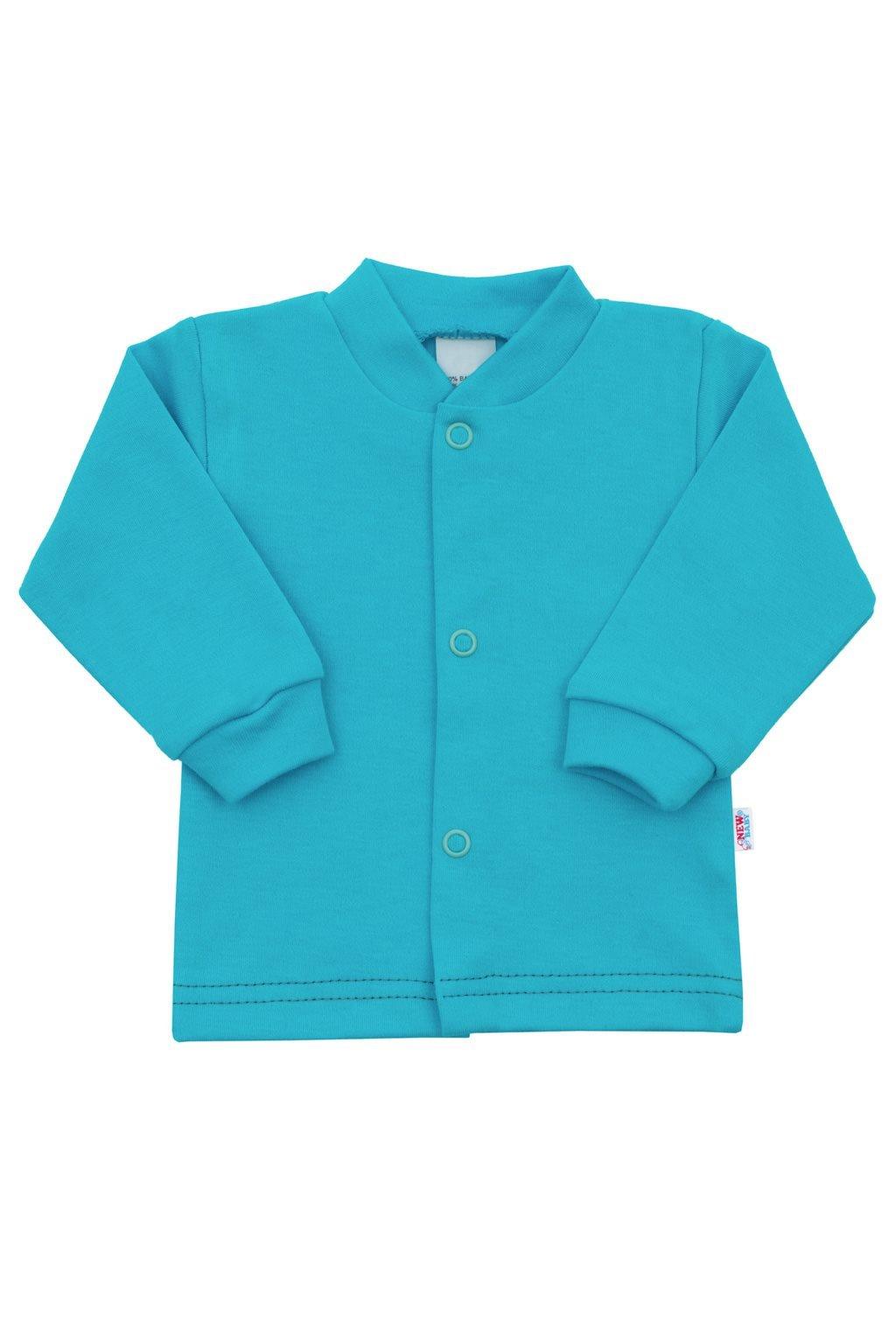 Dojčenský kabátik New Baby Mouse tyrkysový