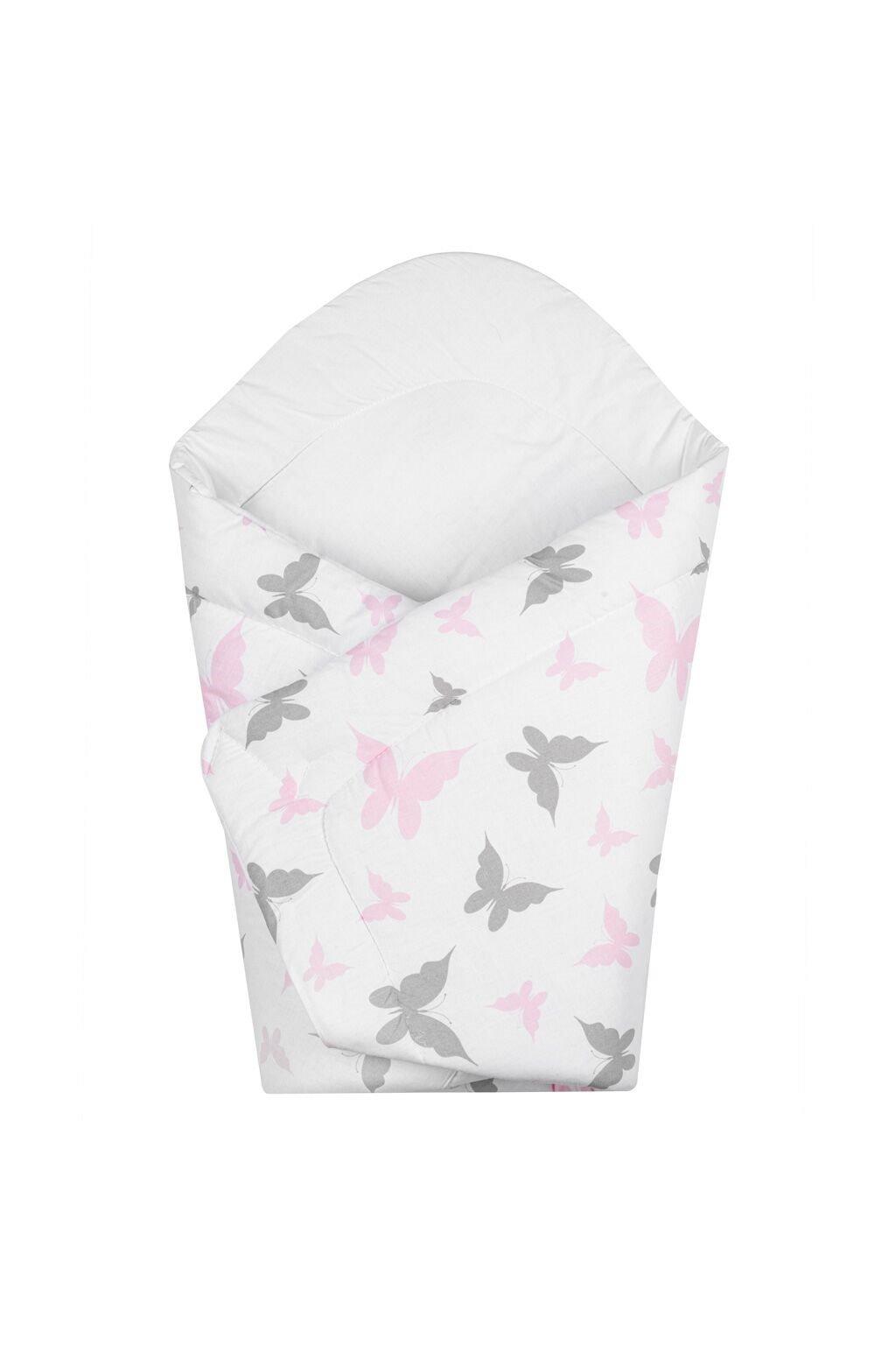 Detská zavinovačka New Baby biela motýle