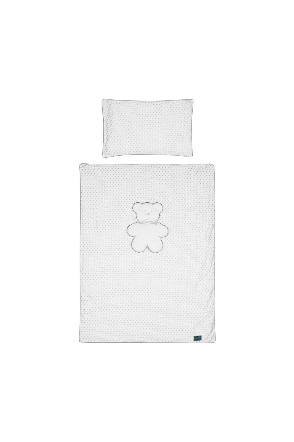 3-dielne posteľné obliečky Belisima Biely medvedík 90/120