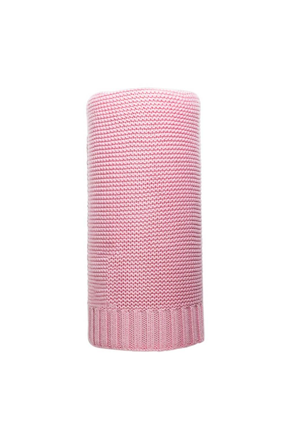 Bambusová pletená deka NEW BABY 100x80 cm ružová