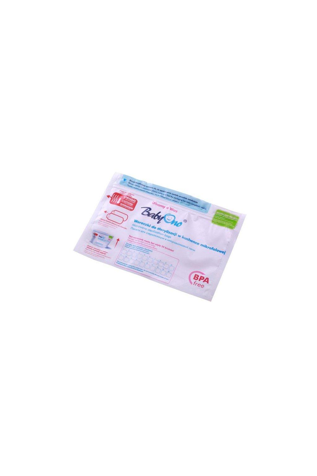 Vrecká pre sterilizáciu v mikrovlnnej rúre Baby Ono