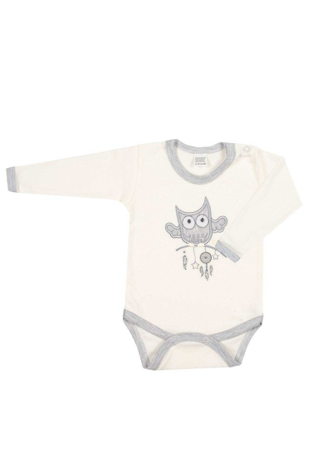 Dojčenské body New Baby Owl béžové