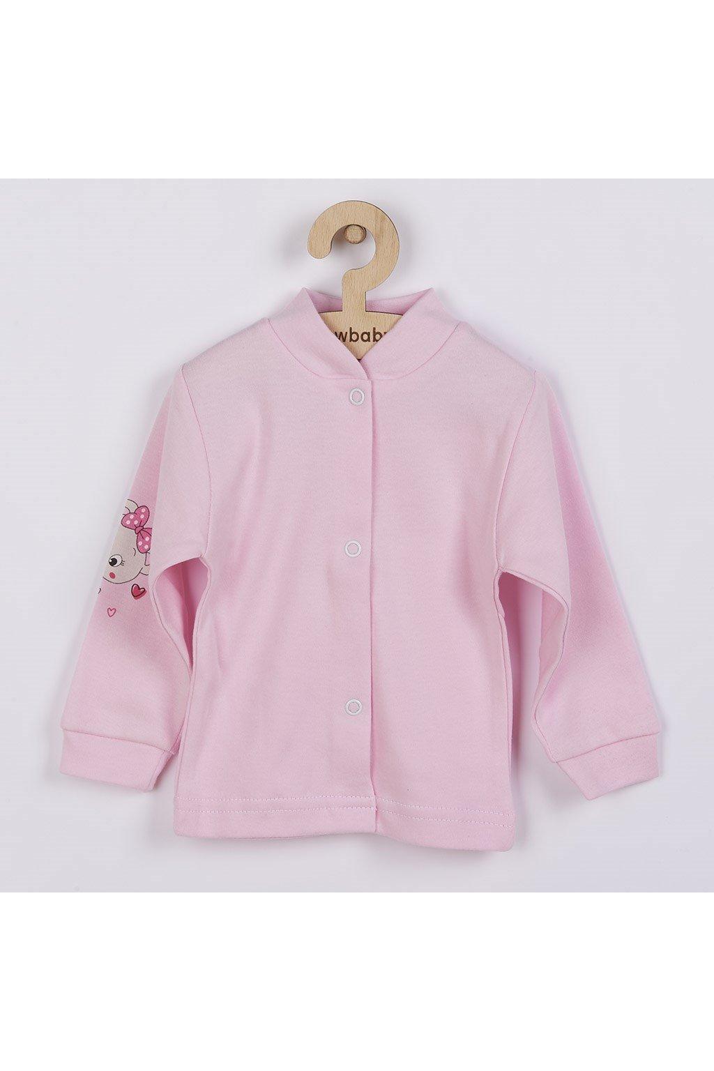 Dojčenský kabátik New Baby myška ružový
