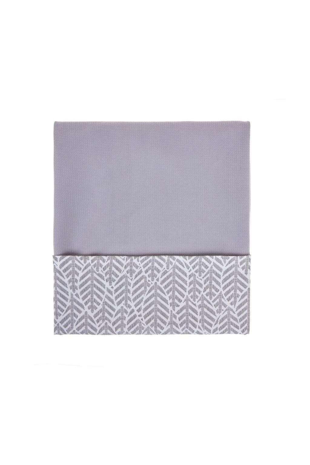 Detská obojstranná deka Velvet Womar 75x100 sivá