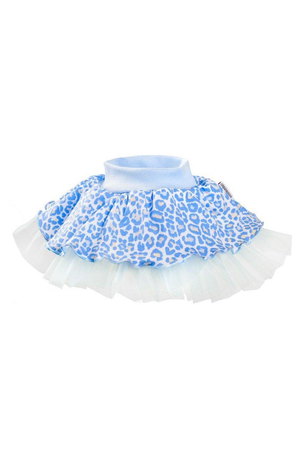 Dojčenská suknička s tylovou spodničkou New Baby Leopardík modrá