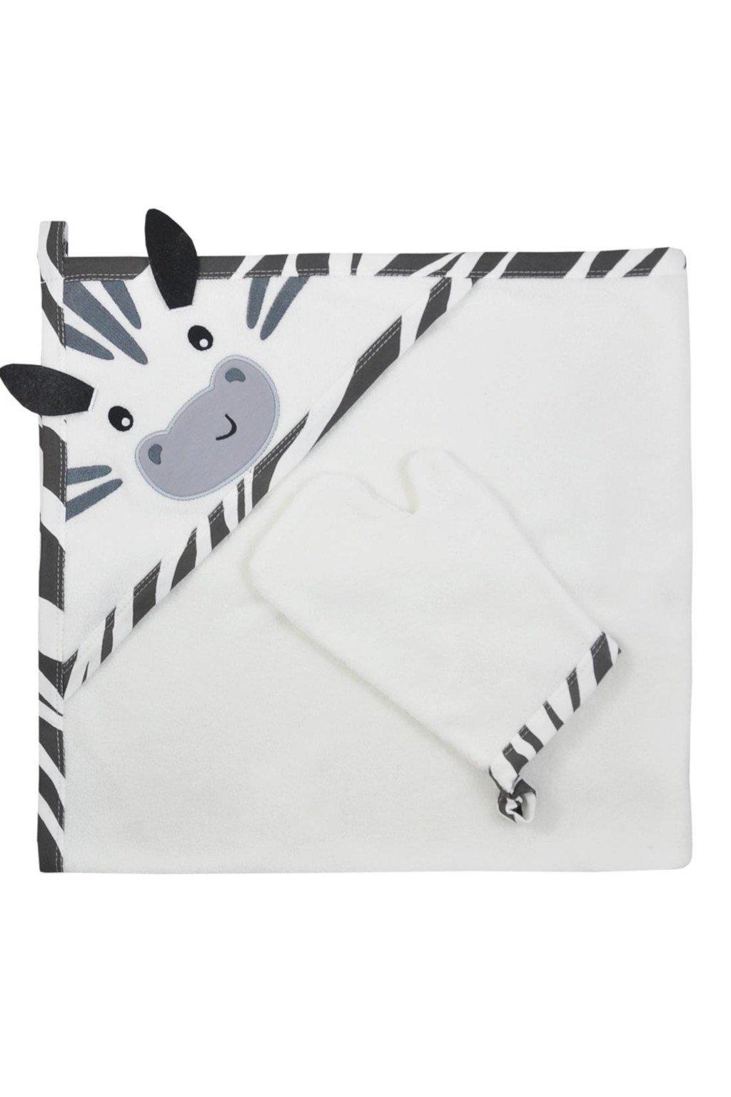 Detská osuška s žinkou Koala Happy Zebra white
