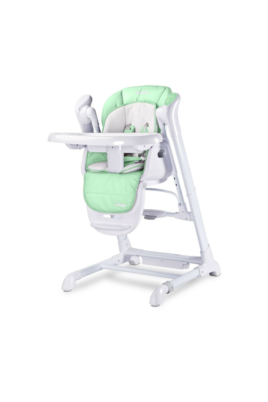 Detská jedálenská stolička 2v1 Caretero Indigo mint