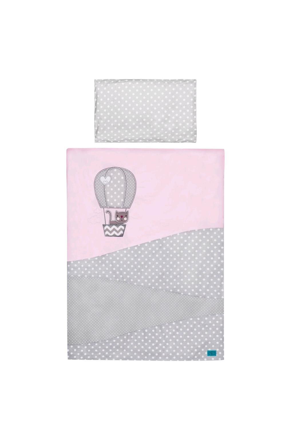 5-dielne posteľné obliečky Belisima Balón 90/120 ružové