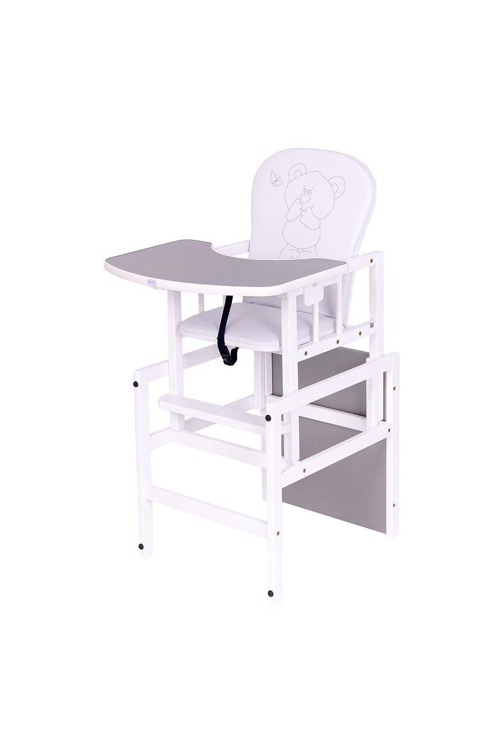 Borovicová stolička Drewex Antonín Medvedík a motýlik sivá