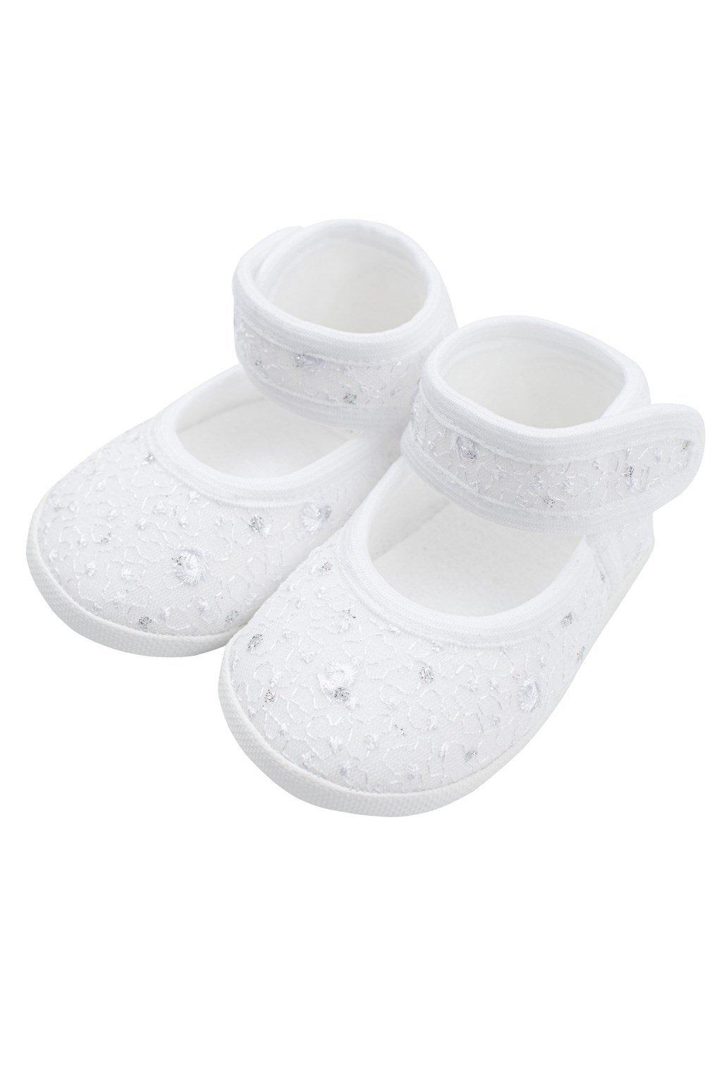 Dojčenské capačky New Baby strieborno-biele 12-18 m