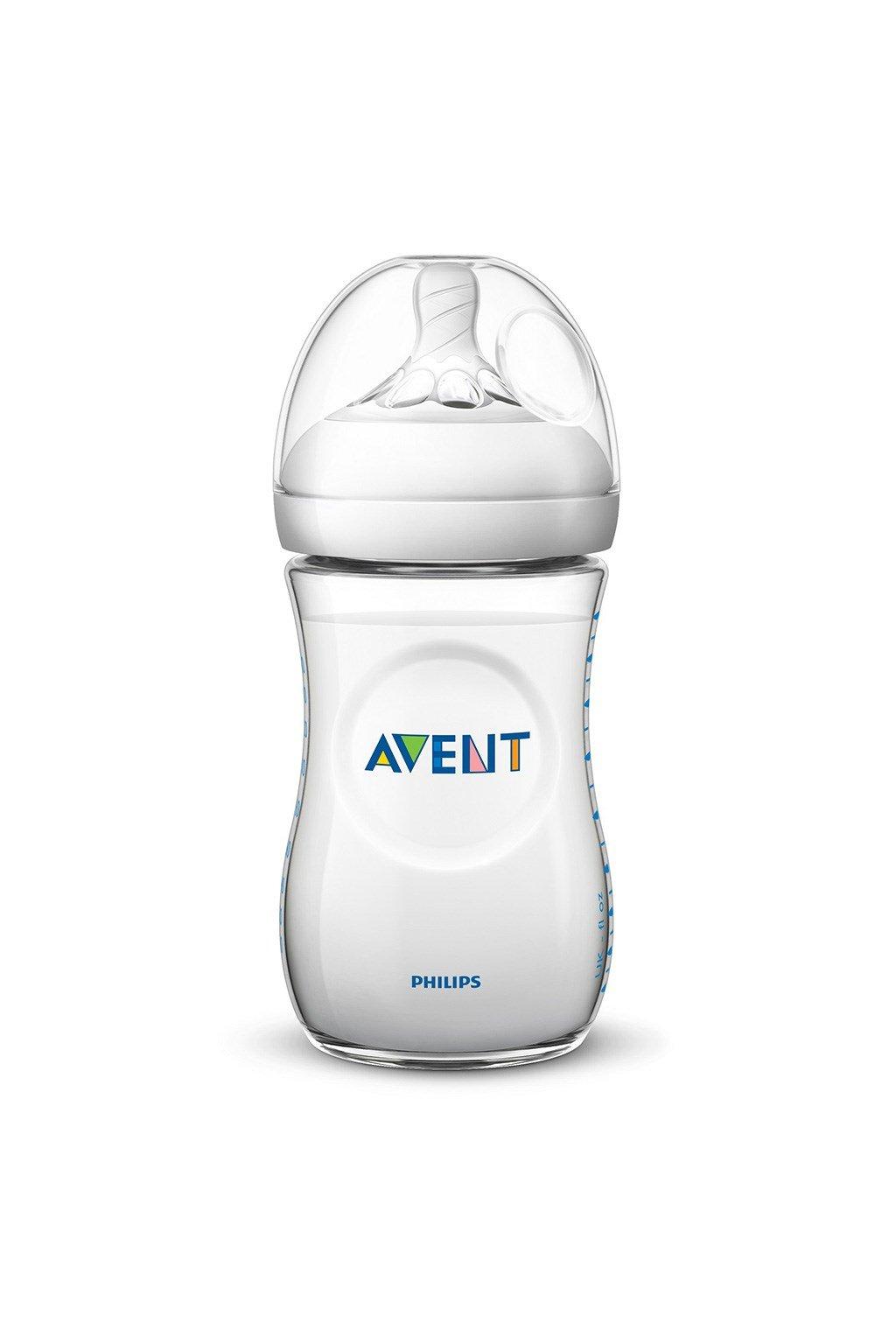 Dojčenská fľaša Avent Natural transparentná 260 ml