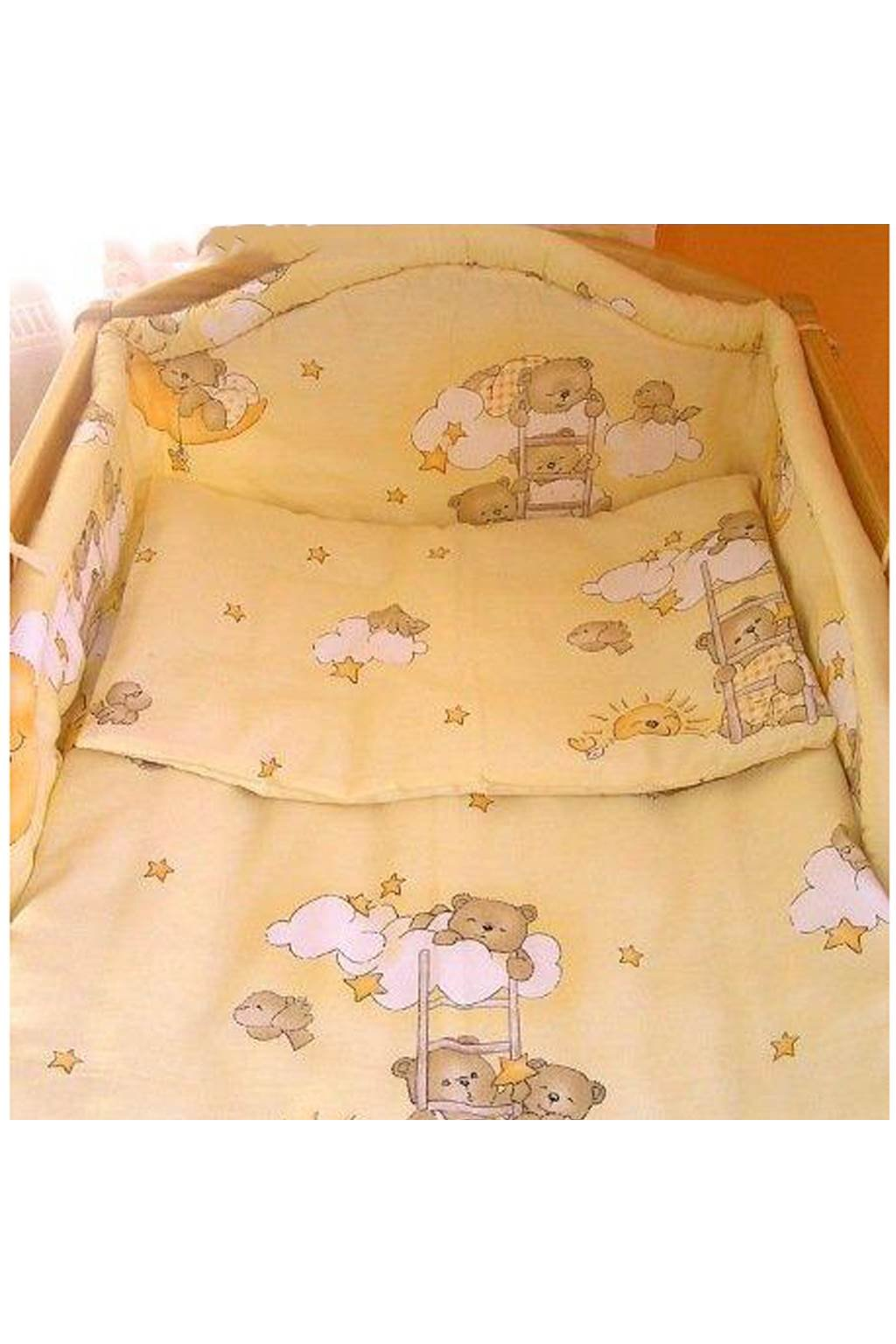 2-dielne posteľné obliečky New Baby 90/120 cm bežové s medvedíkom