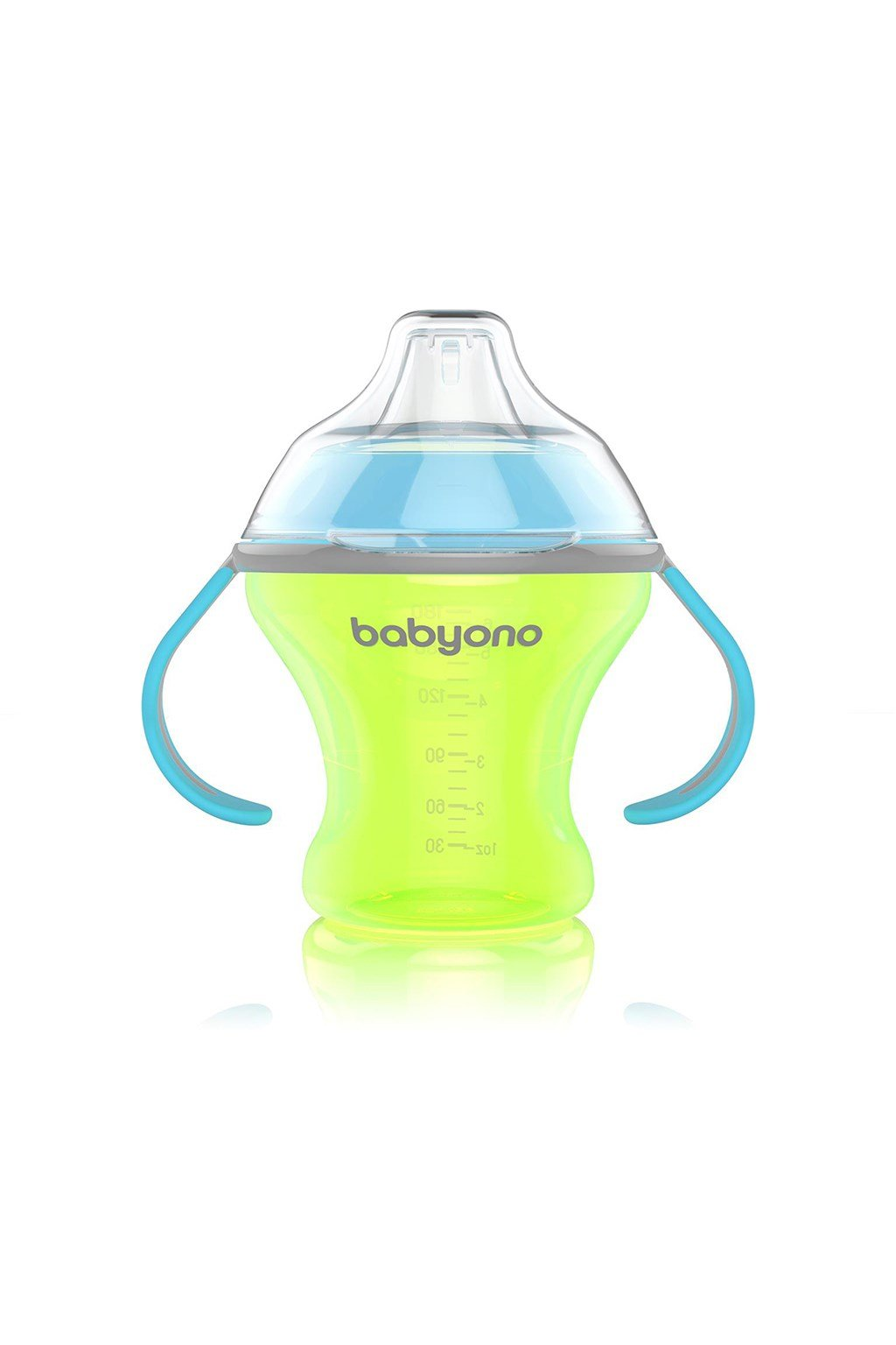 Netečúci hrnček s mäkkým náustkom Baby Ono 180 ml zelený