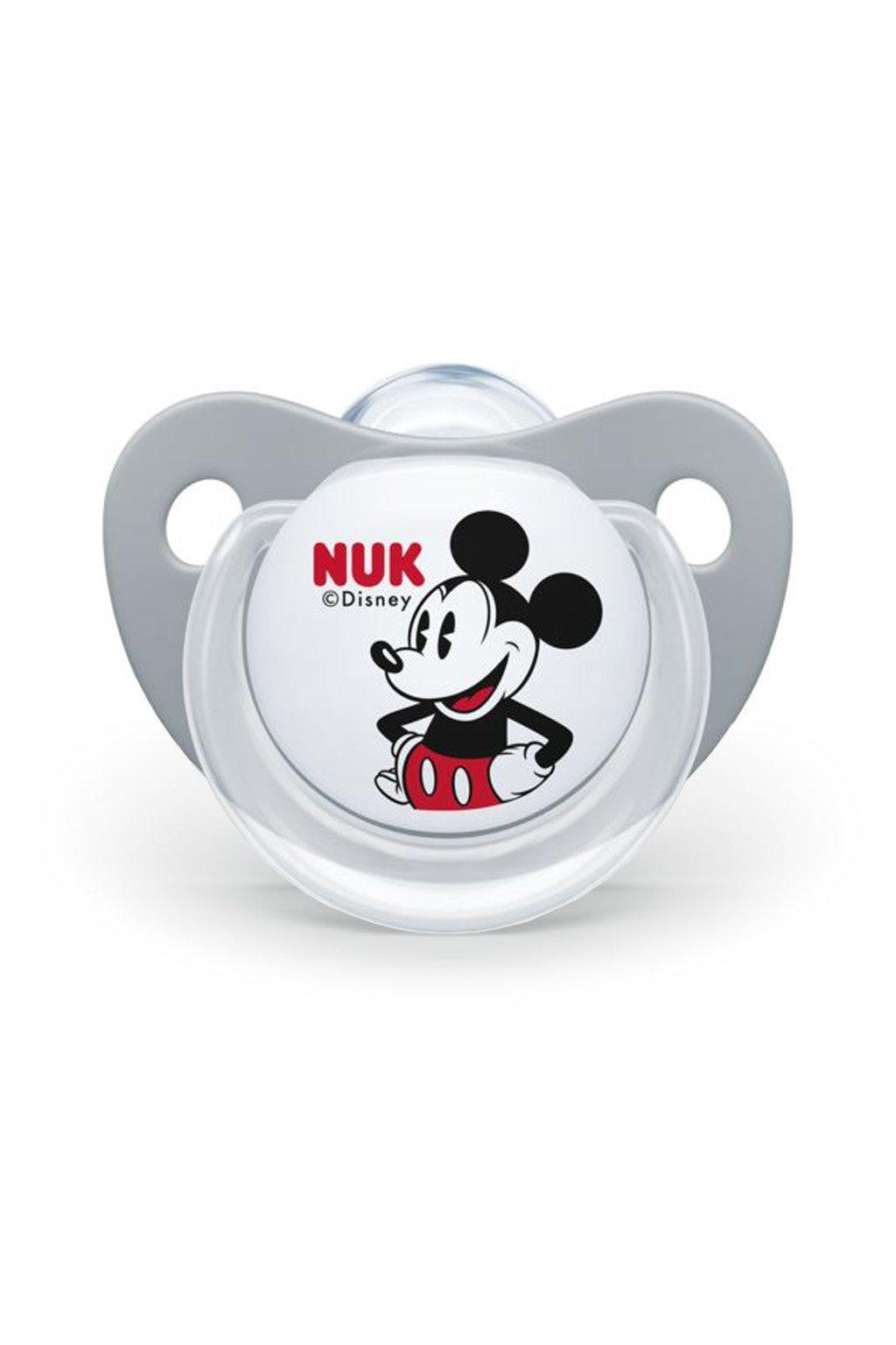 Cumlík Trendline NUK Disney Mickey Minnie 0-6m sivý Box