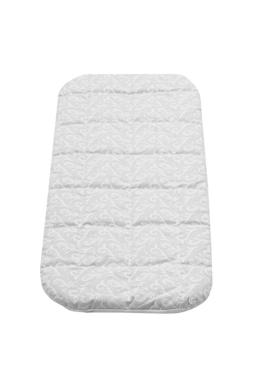 Detský matrac do kočíka New Baby 75x35 molitan-pohánka biely