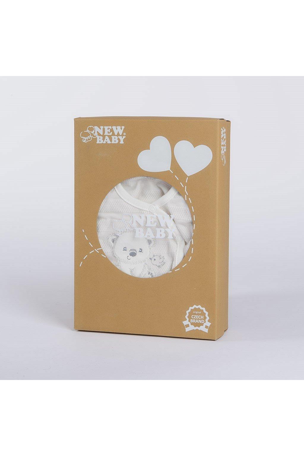 Dojčenská súprava do pôrodnice New Baby Sweet Bear béžová