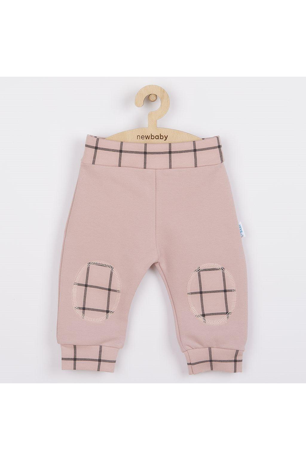 Dojčenské bavlnené tepláčky New Baby Cool ružové