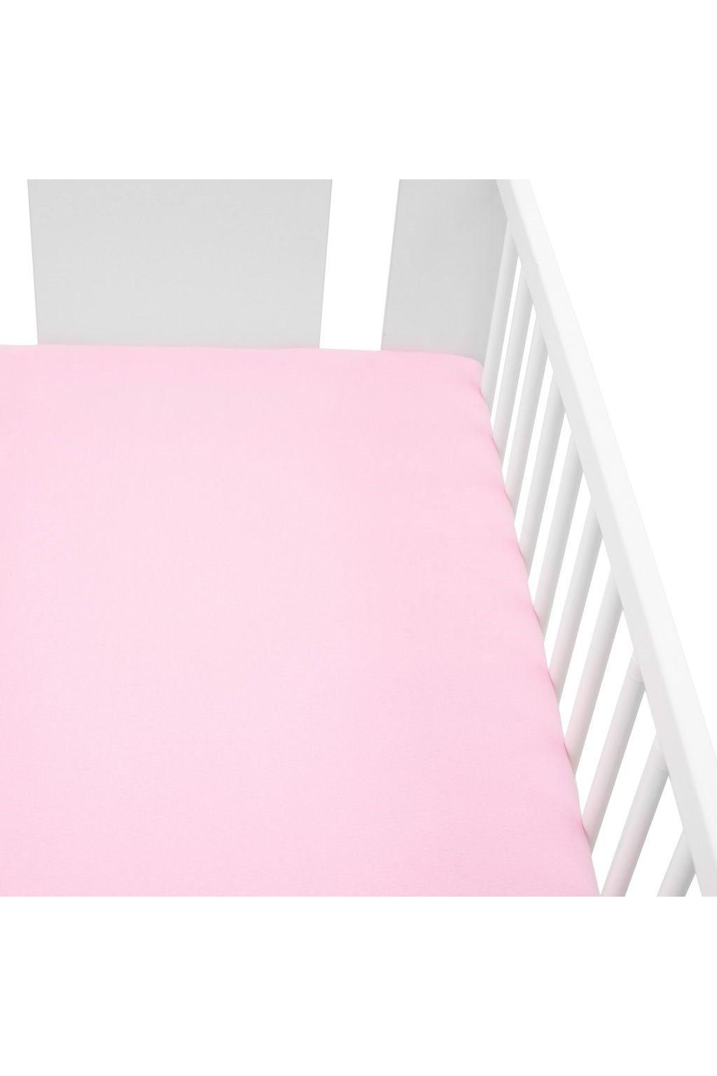 Jersey prestieradlo do postieľky New Baby 120x60 ružové