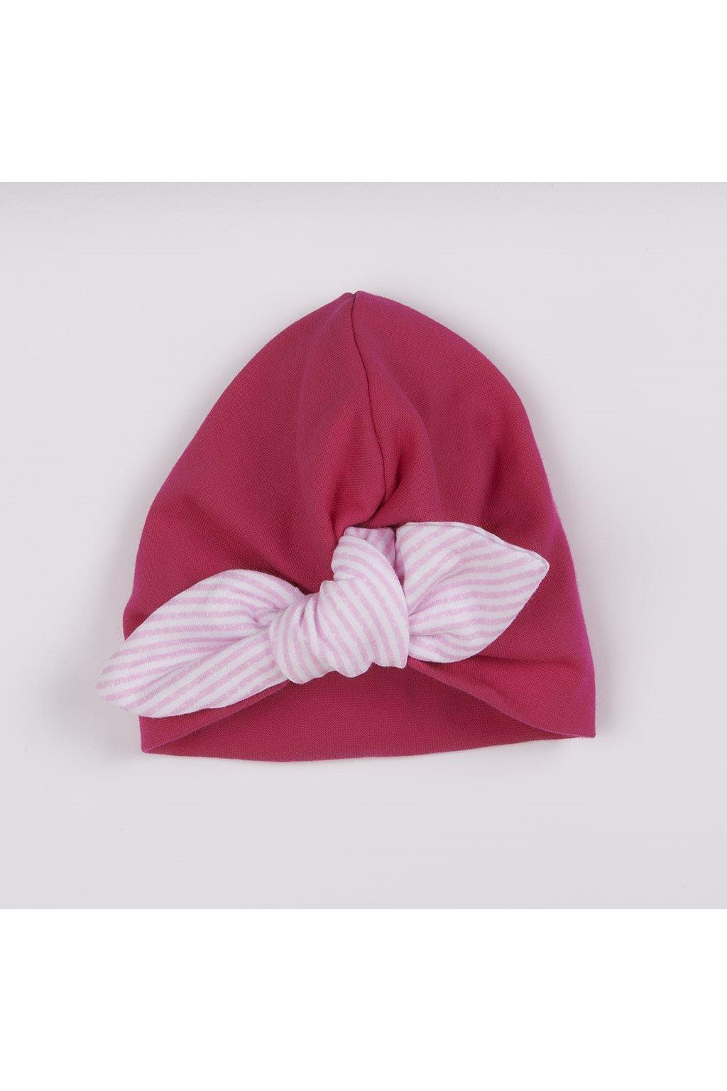 Dievčenská čiapočka turban New Baby For Girls stripes