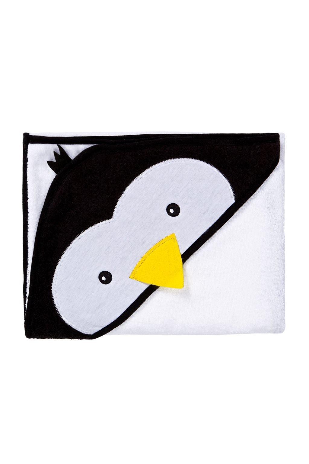 Detská osuška Sensillo Water Friends 100x100cm white pingwin