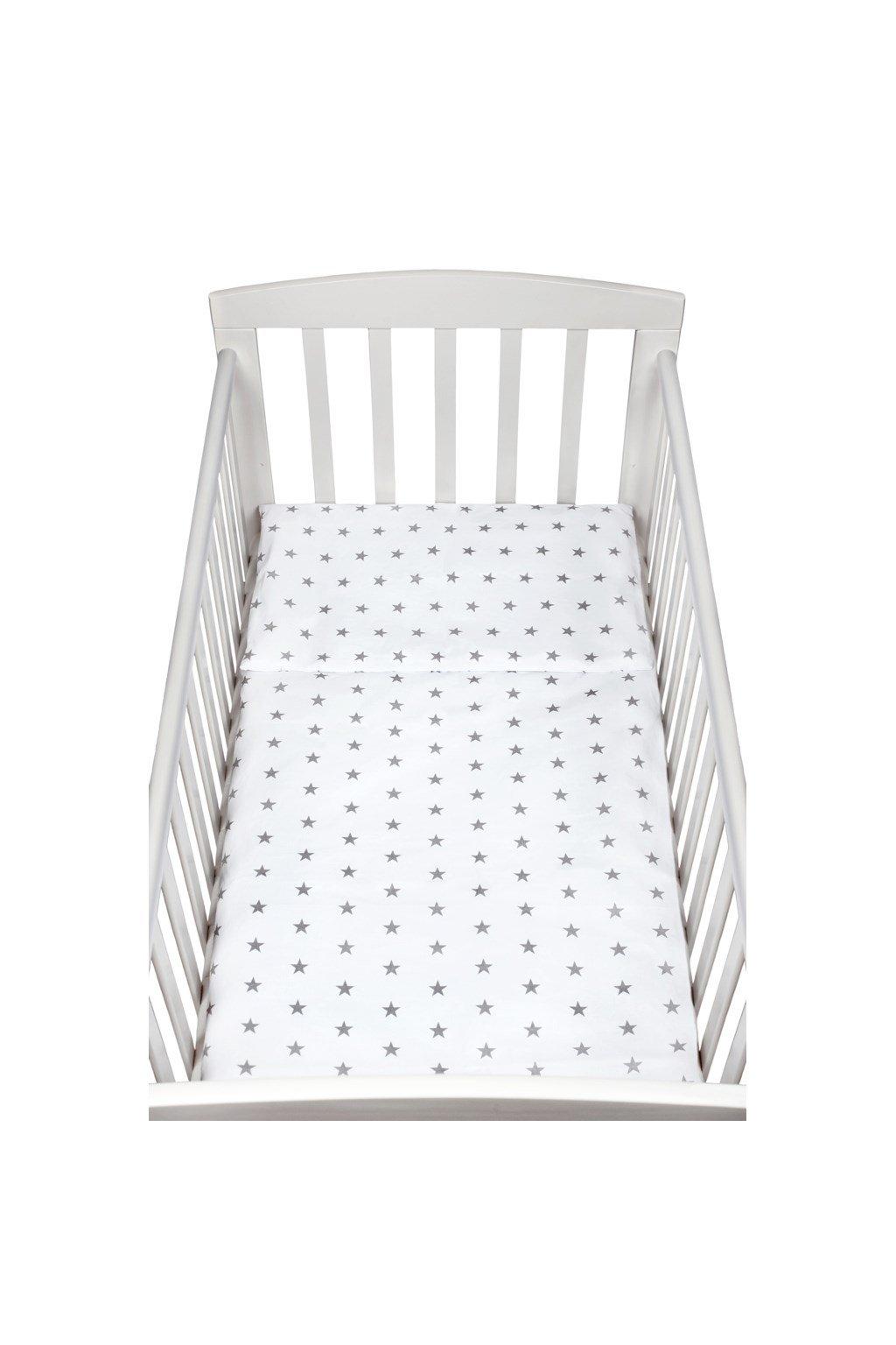 2-dielne posteľné obliečky New Baby 100/135 cm sivé hviezdičky