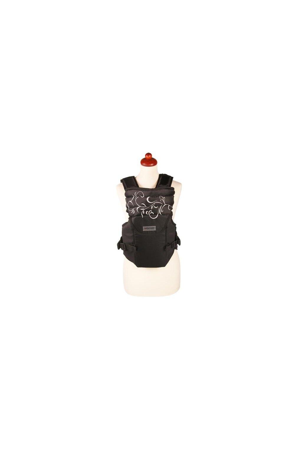 Nosítko Womar Zaffiro Sunny čierne so sivou výšivkou