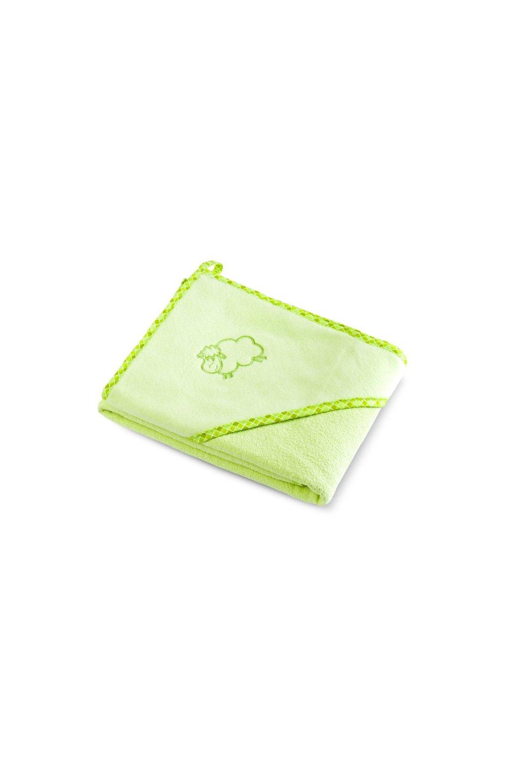 Detská osuška Sensillo Ovečka 80x80 cm zelená