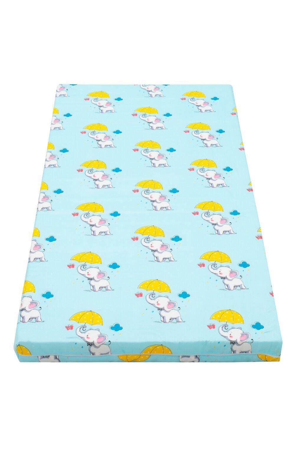 Detský matrac New Baby 120x60 molitan-kokos modrý rôzne obrázky
